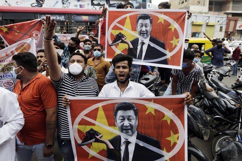 上個月的中印衝突,使得印度人民對中國的反感遽增,圖攝於6月24日。 圖/美聯社