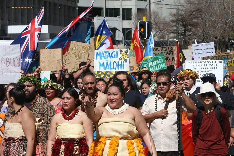 2019年9月27日,紐西蘭第二波氣候罷課行動。 圖/美聯社