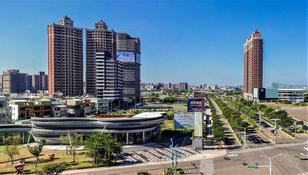 中路特區純住宅規畫,具高綠覆宜居優勢,近一年新屋交易量大增一倍。記者游智文/攝影