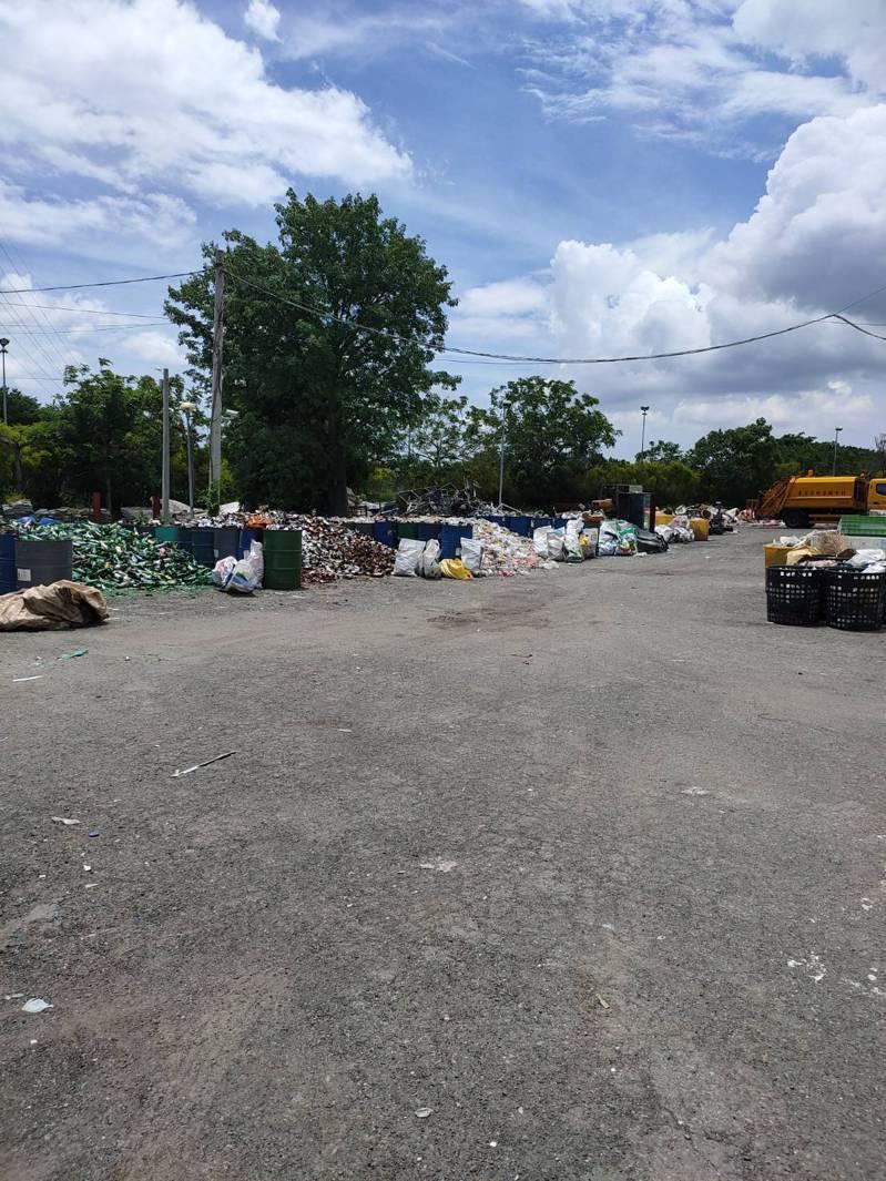 彰化縣北斗鎮資源回收場空間很大,鎮公所和清潔隊將加強資源回收。圖/北斗鎮公所提供
