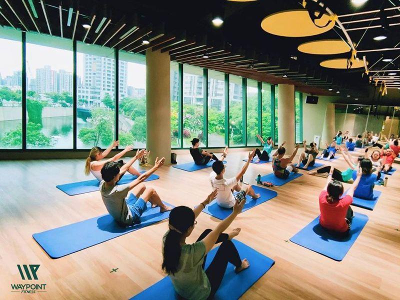 新北運動聚點-waypoint fitness瑜珈課程。圖/新北市體育處提供