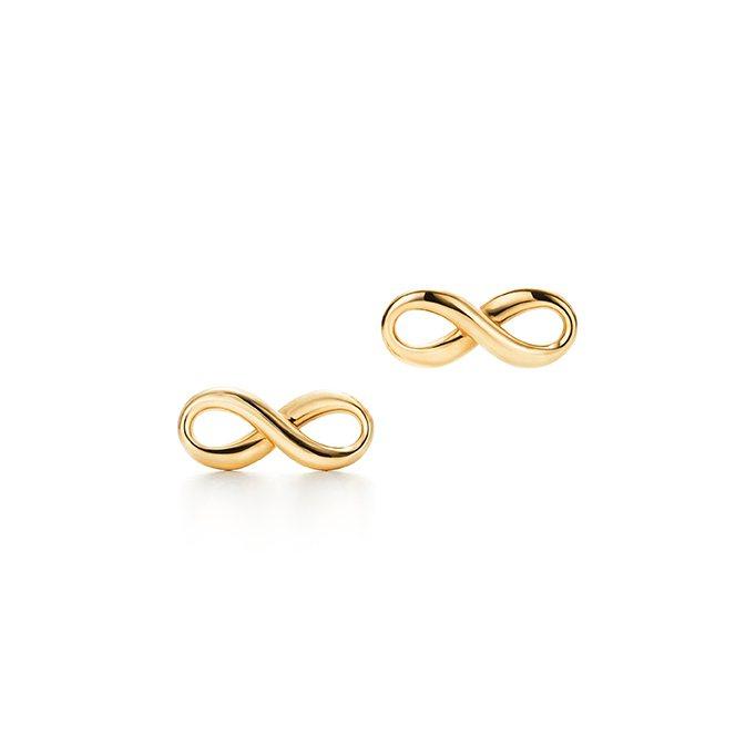 Tiffany Infinity 18K金耳環,21,000元。圖/Tiffan...