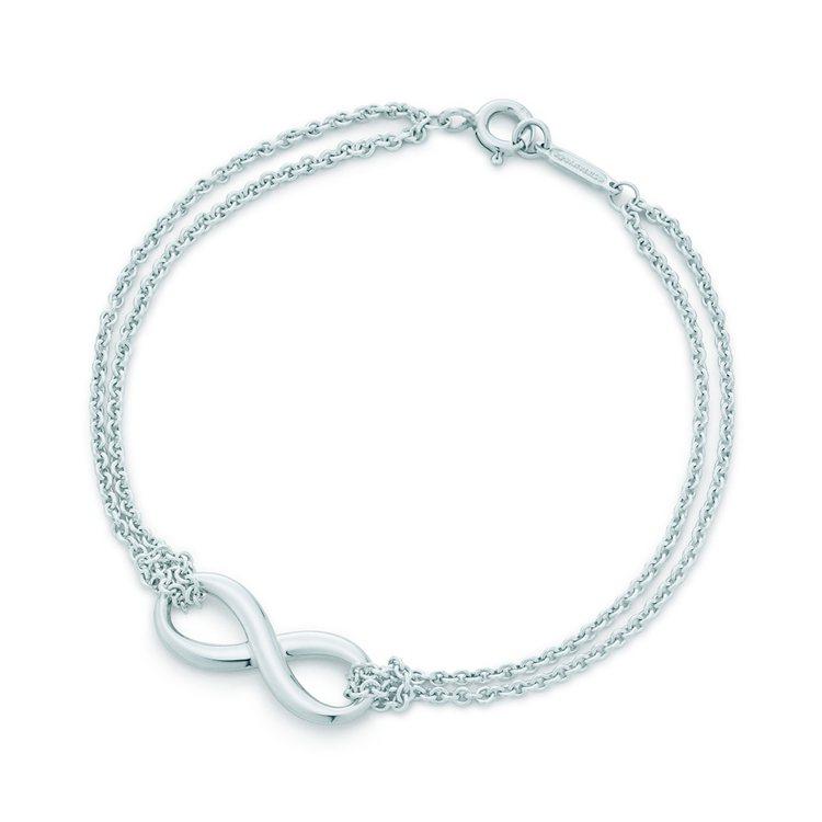 Tiffany Infinity純銀手鍊,9,500元。圖/Tiffany & ...