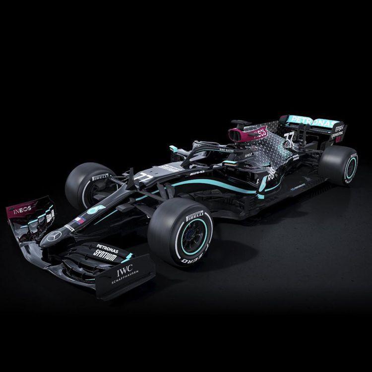 Mercedez F1車隊2020賽季的酷炫賽車,一如IWC腕表,成為車手馳騁賽...