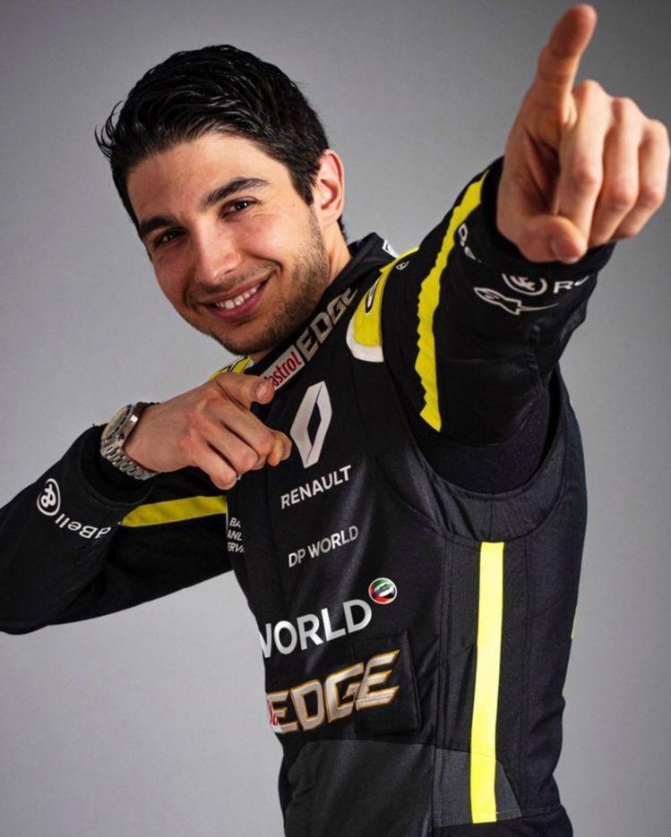 F1車手Esteban Ocon在官方instagram帳號配戴上Bell & ...