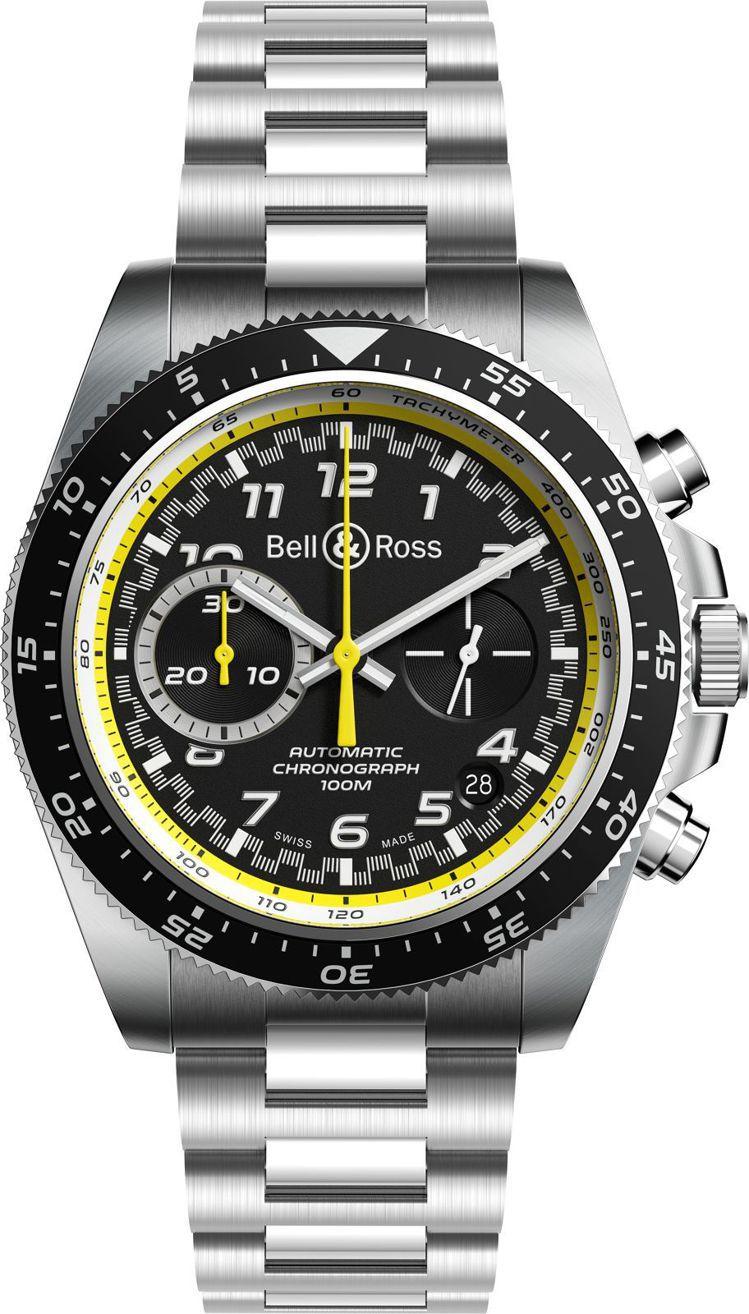 Bell & Ross,BR V3-94 R.S.20計時碼表,精鋼,自動上鍊機...