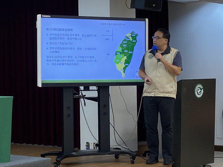 疾管署今公布國內新增5例日本腦炎確定病例,年齡落在48歲至58歲間,分別在桃園、...
