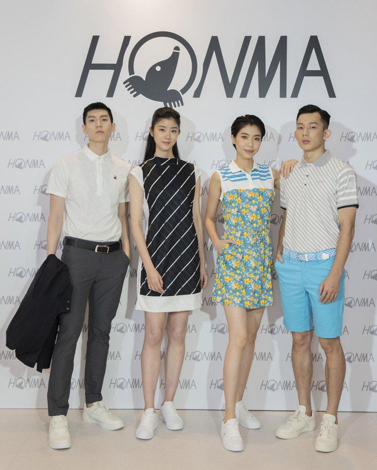 高爾夫球品牌Honma本間,首度面對媒體,舉辦別開生面的夏季服飾發表會。圖/Ho...