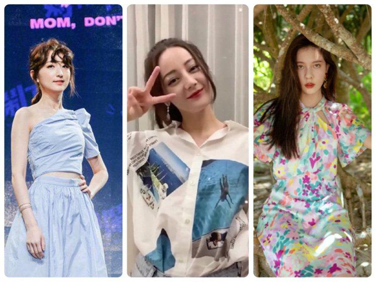 柯佳嬿、迪麗熱巴、宋妍霏的夏日穿搭相當俏麗。圖/取自IG、微博