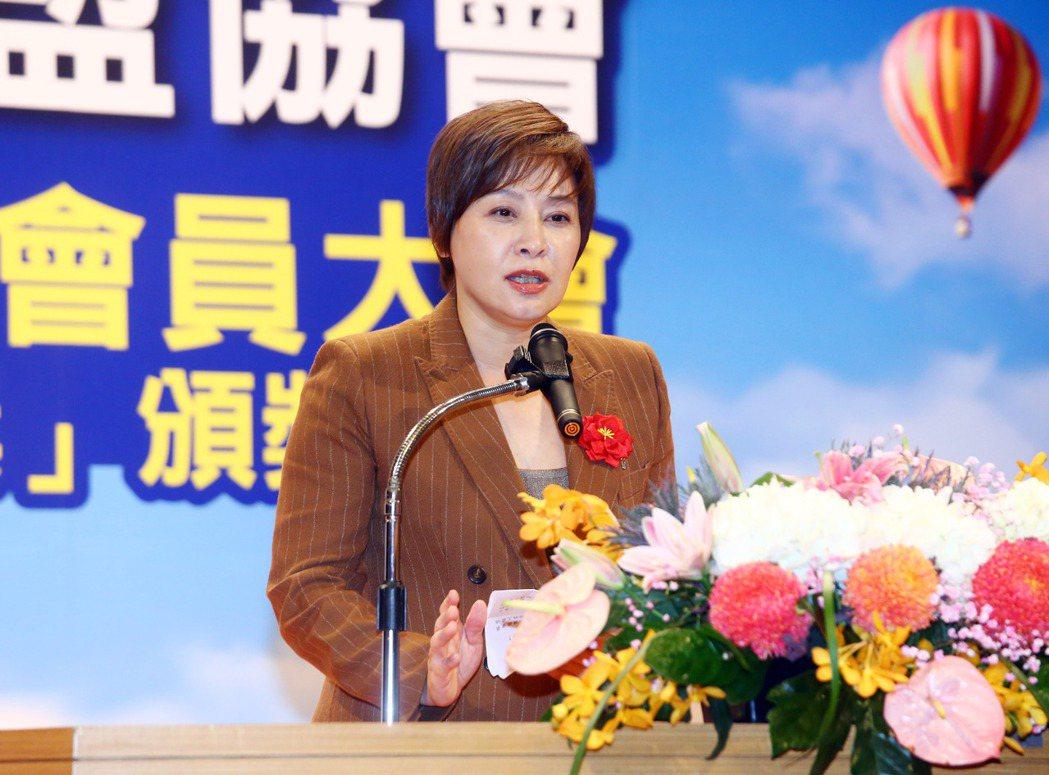 台灣連鎖暨加盟協會理事長賴淑芬。台灣連鎖暨加盟協會/提供