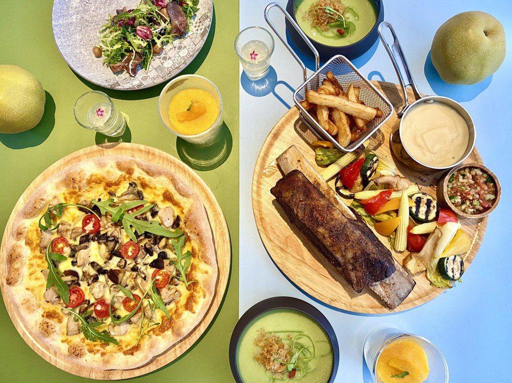 飯店蒐羅了中部當季新鮮食材與物產,以義法烹調手法完整呈現在這次的夏季饗宴中。記者...