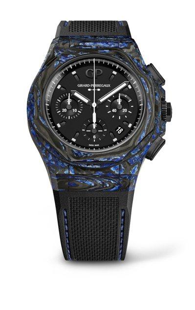 芝柏表Laureato桂冠系列Absolute Rock 44毫米玻璃碳腕表,4...