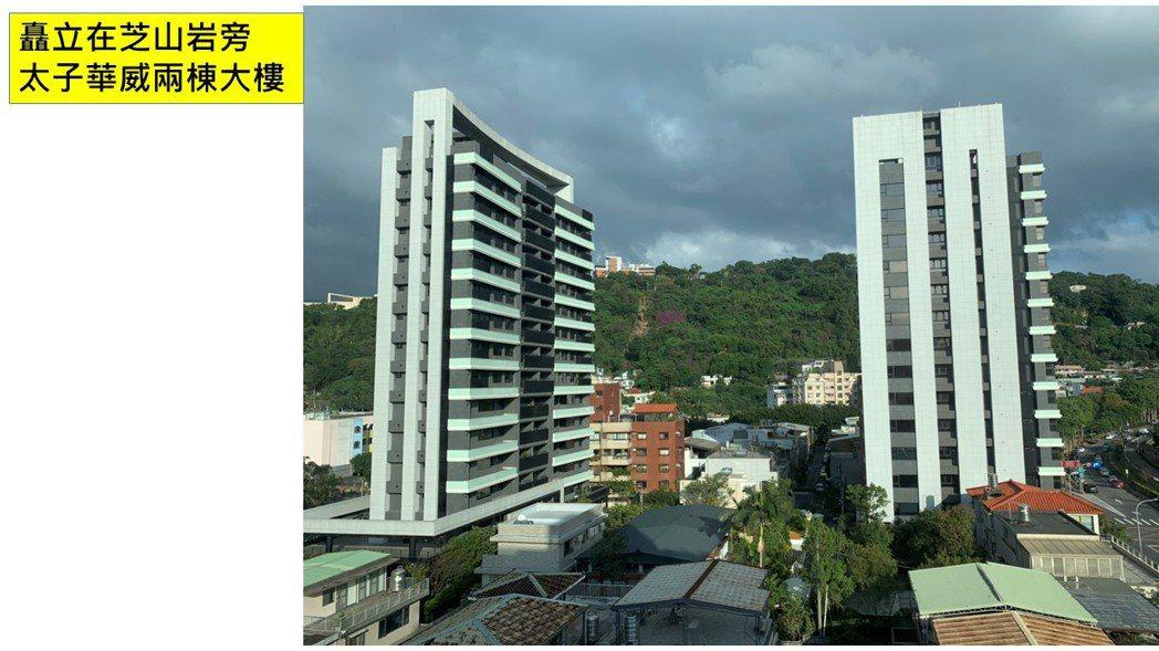 士林高價宅「太子華威」有兩筆新交易紀錄,分別是2樓戶與11樓戶,成交總價落在9,...
