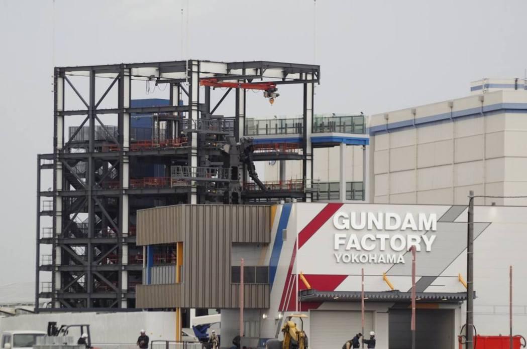 從外圍可看到GUNDAM FACTORY招牌。