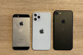 5.4吋iPhone 12模型機比4.7吋iPhone 7還小支?網友曝光對比圖