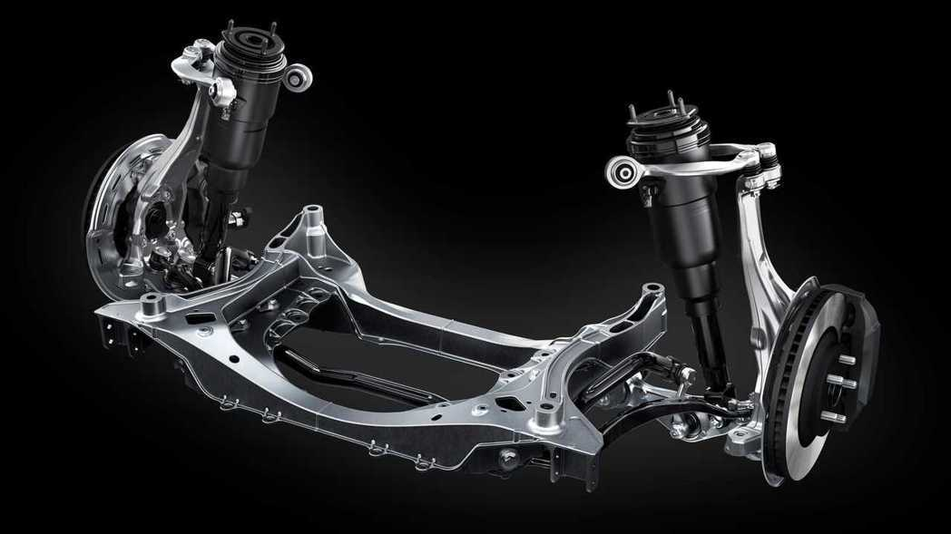 針對AVS可變阻尼避震系統,調整阻尼係數並加強連桿的剛性。 摘自Lexus