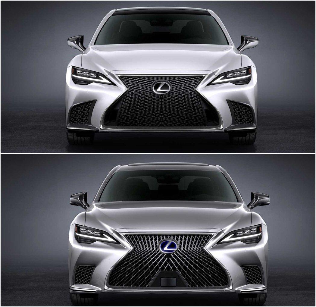圖上:LS 500 F Sport,圖下:LS 500h。 摘自Lexus