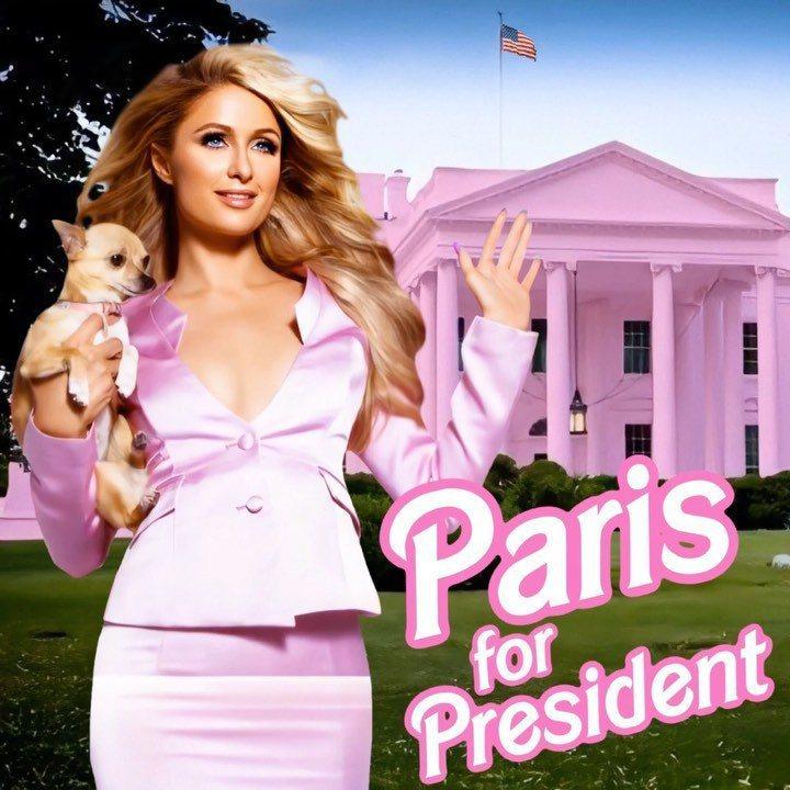 希爾頓酒店千金芭黎絲放話要參選美國總統。圖/擷自IG