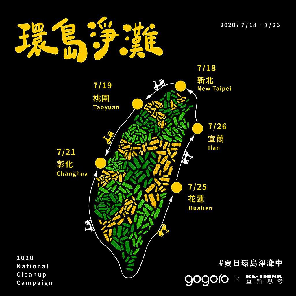 為期九天五場的淨灘盛宴,將於7月18日早上10點於Gogoro松山Citylin...