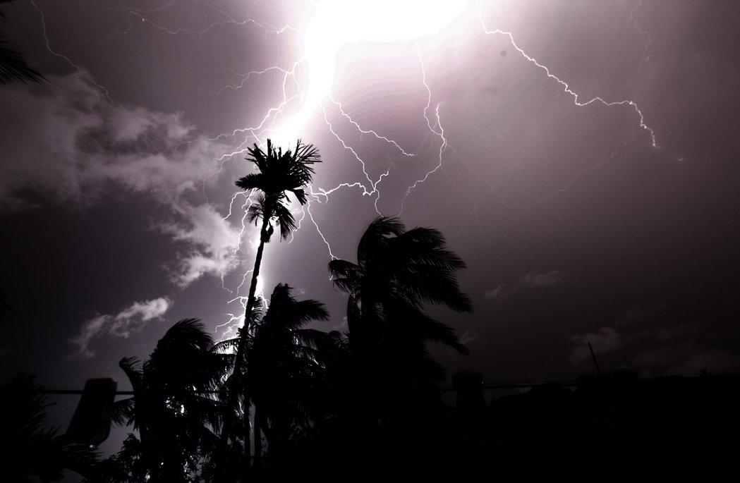 圖為印度比哈爾邦的落雷景象。 圖/歐新社