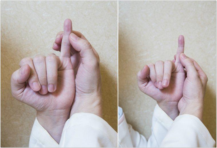經常按摩小指頭第一和第二指節附近的穴位,有助改善更年期症狀。(詳細說明請見下方)...