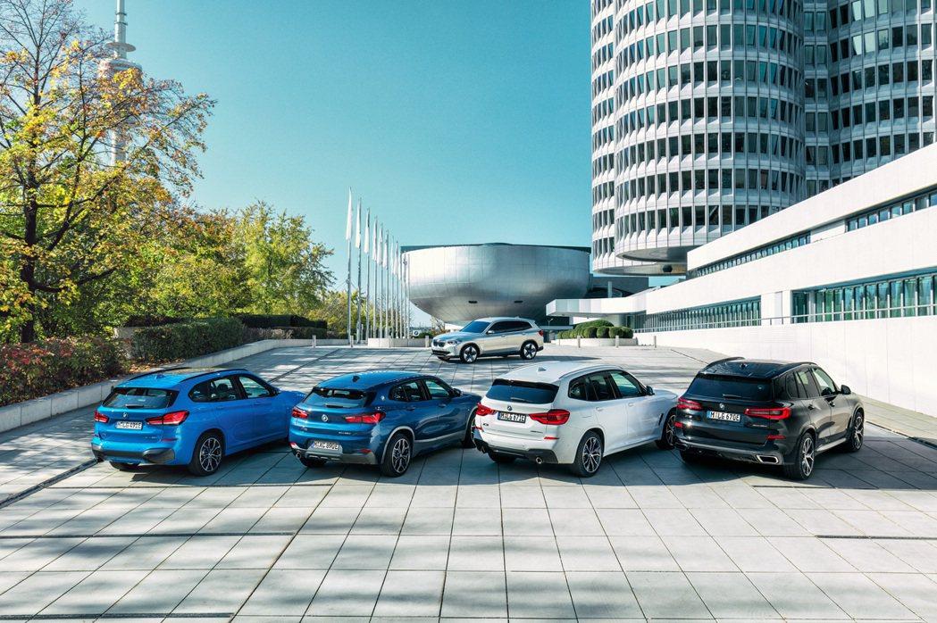 BMW X系列陣容中,僅剩X4、X6與X7尚未推出插電車型。 摘自BMW