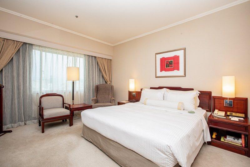 8台北福華大飯店的高級雙人單床房。 業者/提供