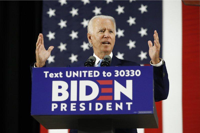 民主黨準總統候選人拜登。美聯社