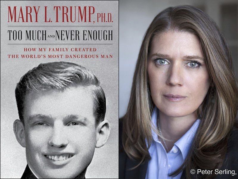 美國總統川普的姪女瑪莉(右)在新書中爆料川普的黑歷史。美聯社