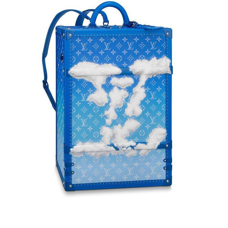 Monogram Cloud藍天白雲款後背包硬箱,103萬元。圖/LV提供