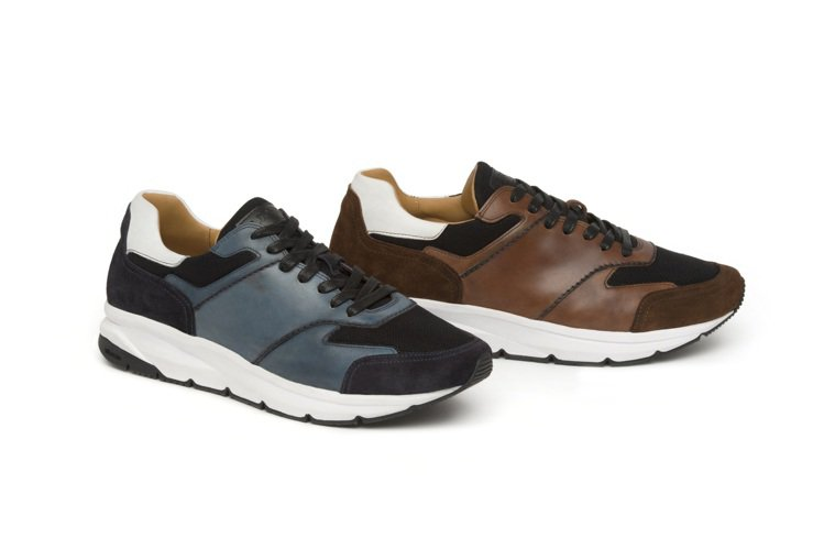a.testoni,輕量化鞋底拼接運動休閒鞋,讓老爹無論都市街道、郊外走山,都能...