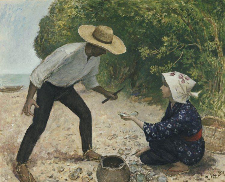 養殖珍珠技術發明85週年時,由畫家伊勢正義所繪的圖畫「希望時分」,重現了1893...