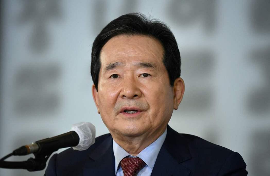 南韓總理丁世均。(法新社)