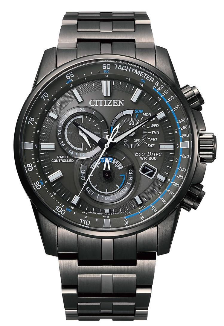 CITIZEN光動能多局電波CB5887-55H腕表,不鏽鋼表殼、表鍊,29,8...
