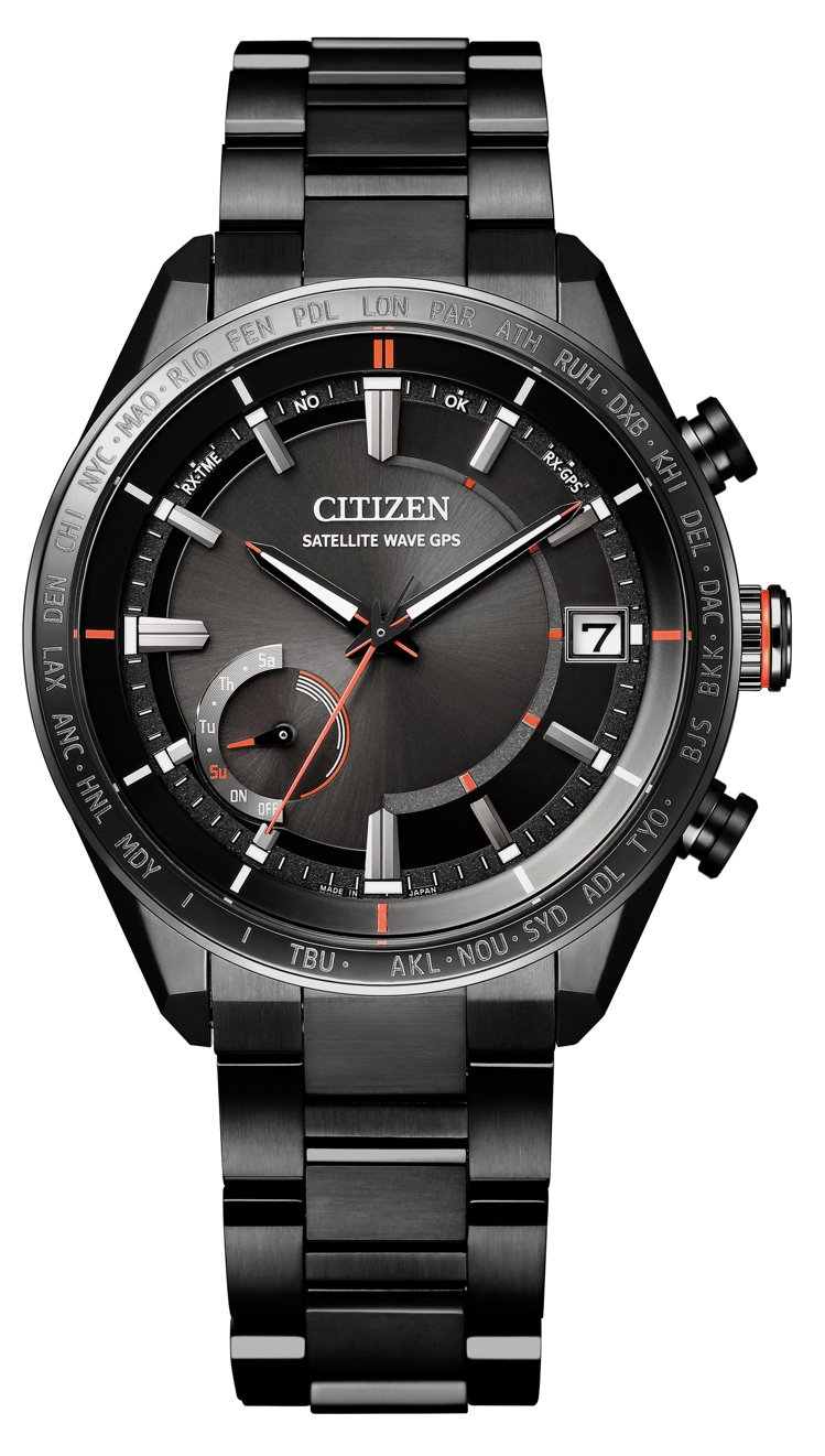 CITIZEN光動能GPS衛星對時CC3085-51E腕表,鈦金屬表殼、表鍊,5...