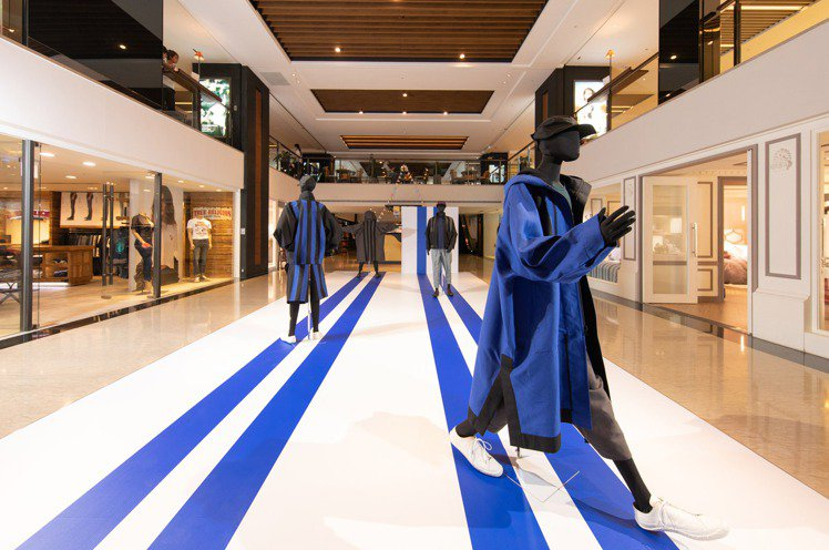 ISSEY MIYAKE MEN秋冬新品展的主題是「立方條紋」系列。圖/君梵提供