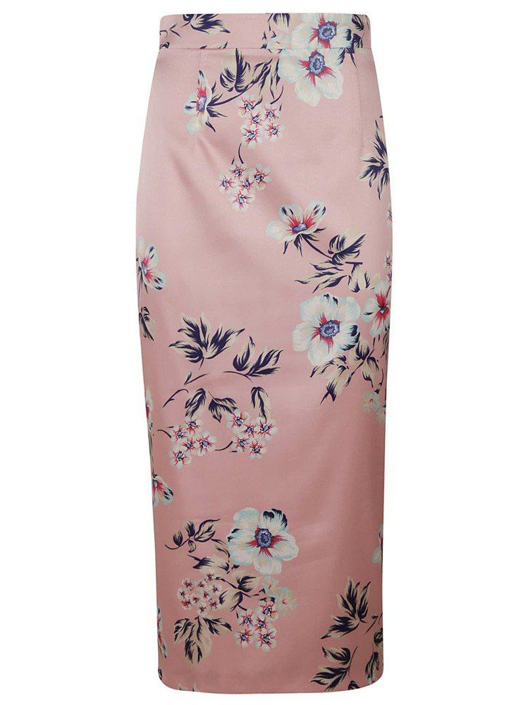 緞面花卉半身裙,32,800元。圖/Blumarine提供