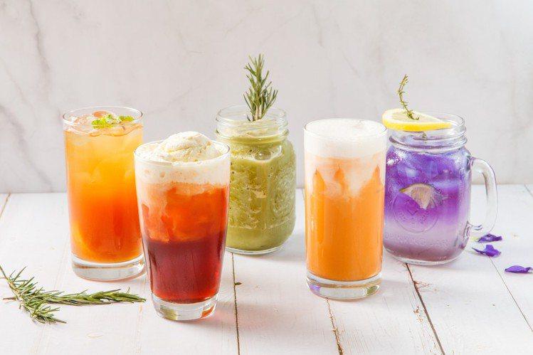 色彩鮮艷的飲品,十分適合拍照。圖/金田餐飲提供