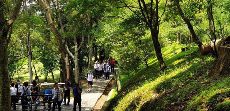 角板山園區是熱門景點,非假日遊客也多。記者鄭國樑/攝影