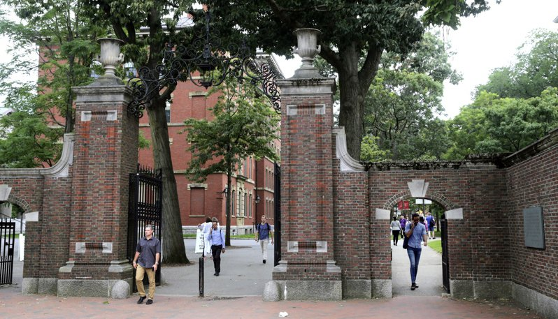 美國哈佛大學。美聯社