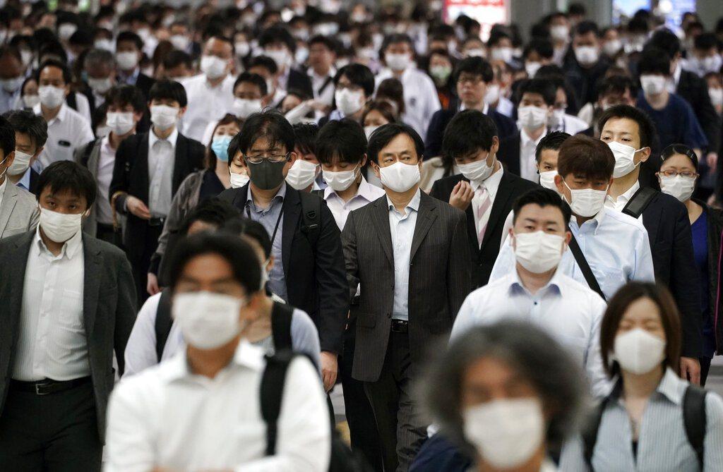 日本東京9日新增224名新冠肺炎確診者,創單日確診數新高。 美聯社