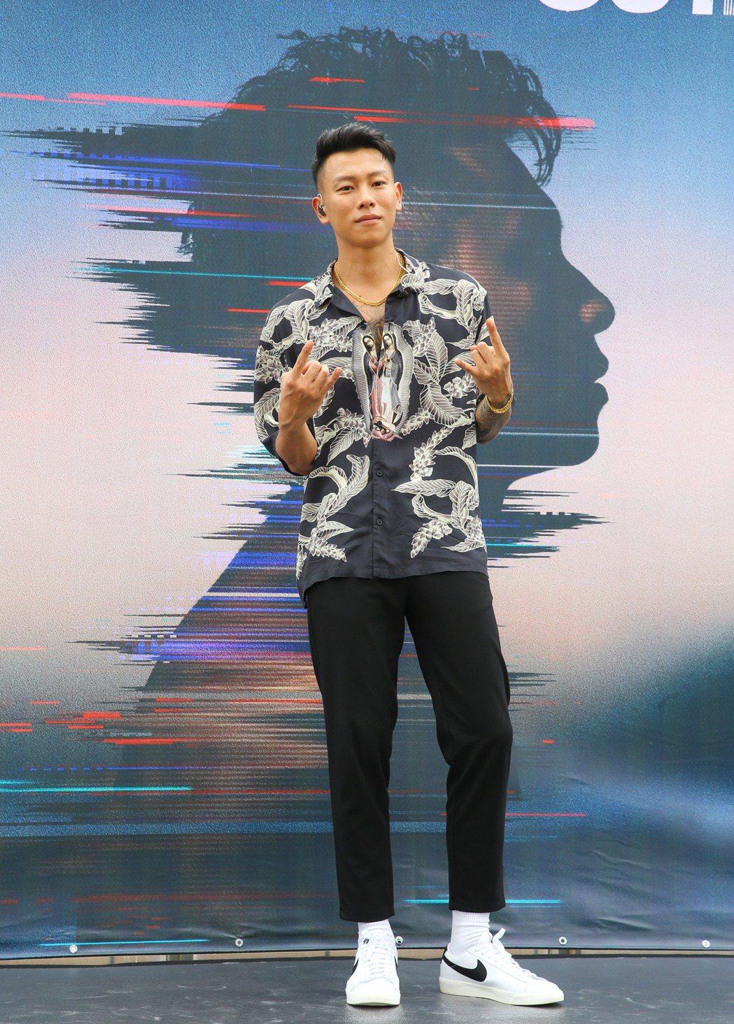 瘦子E.SO個人全新專輯 『靈魂出竅OUTTA BODY』發片記者會。記者陳柏亨...