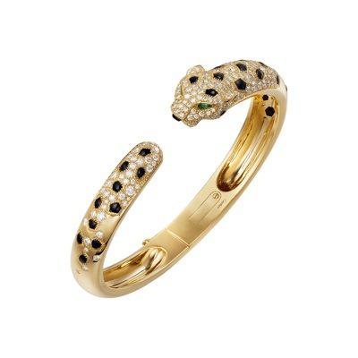 La Panthère 美洲豹鑽石手環-黃K金