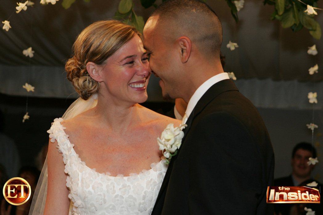 2005年,兩人舉辦婚禮。 圖/美聯社