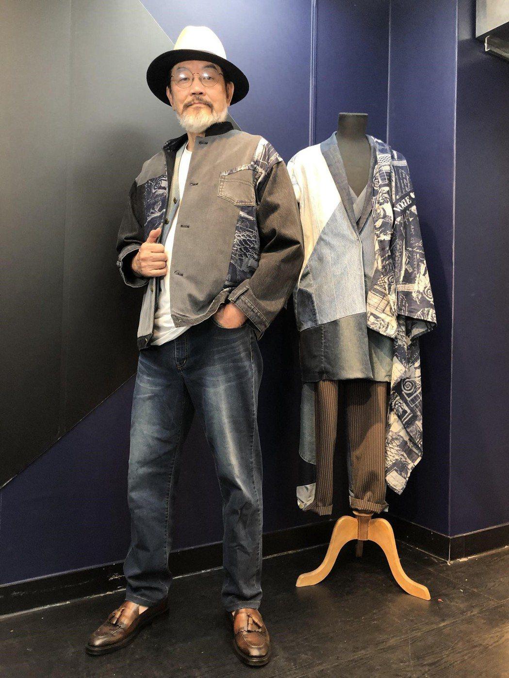 牛仔大衣可遮腹部,具有顯瘦效果。 攝影/張益華