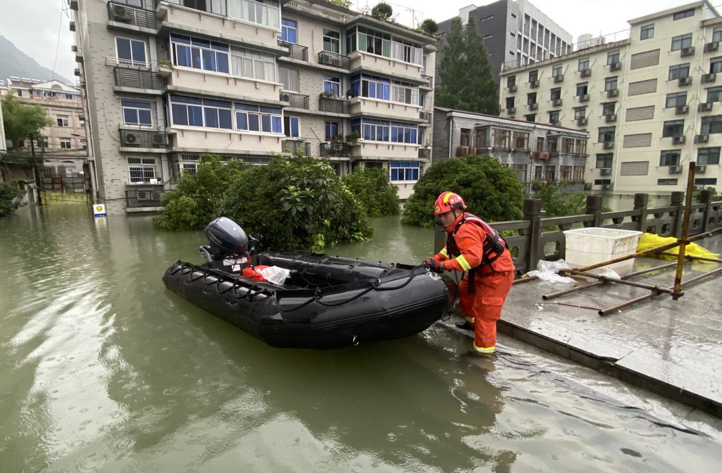 圖為浙江杭州的建德市。 圖/中心社