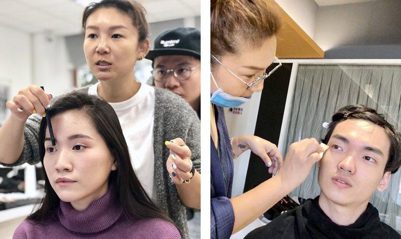 專業彩妝造型師李秈穎指導學生整體造型。 校方/提供