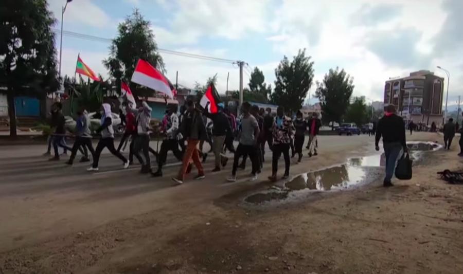 衣索比亞歌手哈恰魯的命案造成民眾群起示威,牽動國內長久以來的族群衝突。(phot