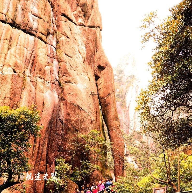 三清山中天然的峽谷,這些峽谷頭頂只能看到一線天和婆娑的樹影。