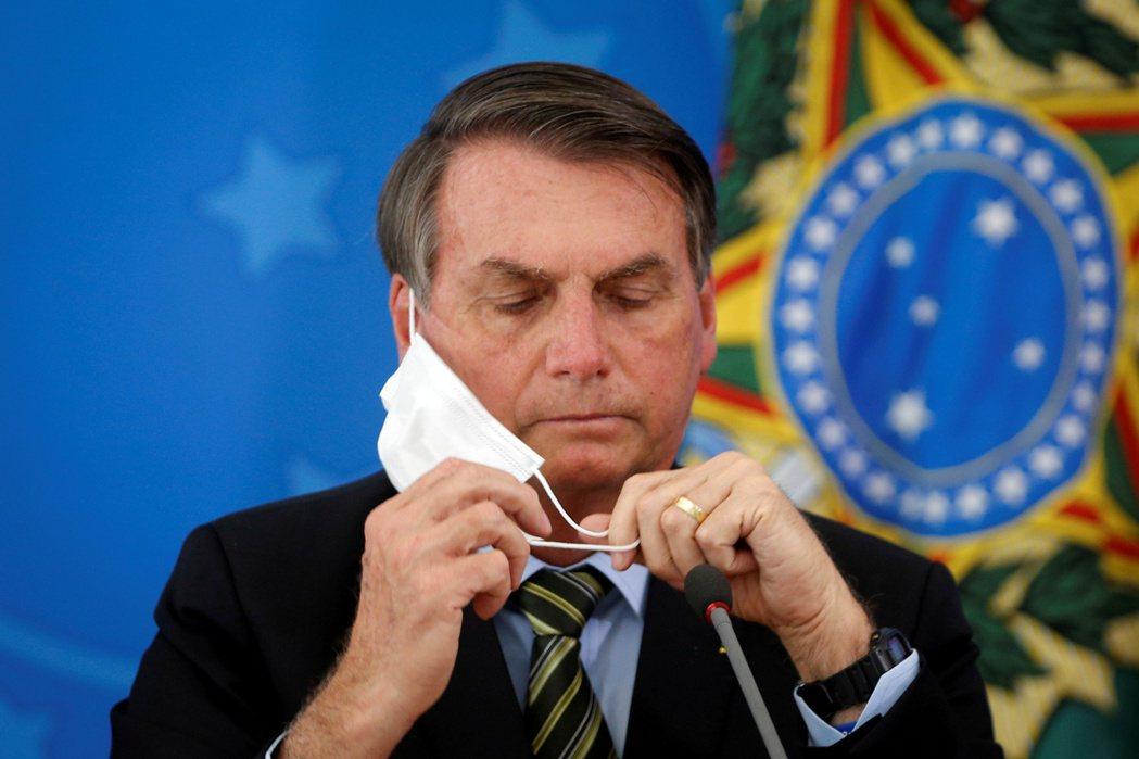 巴西總統波索納洛檔案照。路透